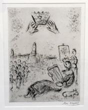 Marc CHAGALL (1887-1985) - La Tour de Roi David (C. 70)