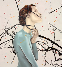 Sandra ACKERMANN - Pittura - Tränen in der Hand