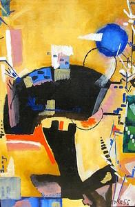Hubert BERKE - Painting - Improvisation vor Goldgrund.