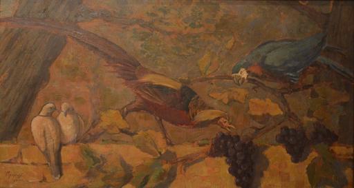 Nicolas AGAPOFF - Painting - The birds