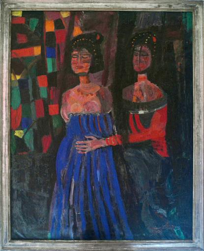 Bruno CASSINARI - Painting -  La visita di S. Elisabetta