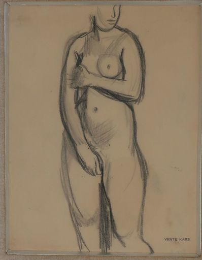 Georges KARS - Dibujo Acuarela - Nude