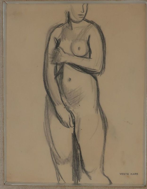 Georges KARS - Zeichnung Aquarell - Nude