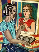 Jacqueline DITT - Peinture - Cyberromance