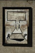 Serge UBERTI - Painting - constructeur blessé et pièce votive