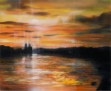 Jean-Baptiste VALADIÉ - Pintura - L'aube sur Paris