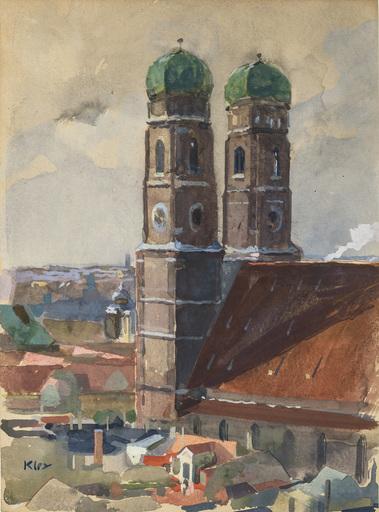 Heinrich KLEY - Dessin-Aquarelle - Die Türme der Münchner Frauenkirche