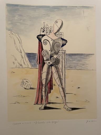 Giorgio DE CHIRICO - Print-Multiple - Il trovatore sulla spiaggia