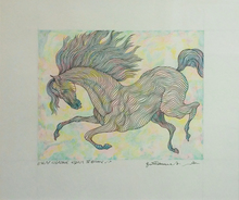 Guillaume A. AZOULAY - Drawing-Watercolor - ESSAI CHROME EQUUS IV
