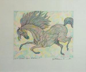 Guillaume A. AZOULAY - Dessin-Aquarelle - ESSAI CHROME EQUUS IV