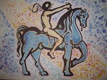 Salvador DALI (1904-1989) - LE CAVALIER. VICTORY OF PRIMITIVE MAN