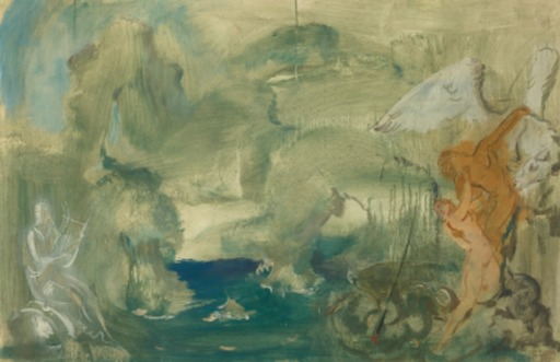 Alexander Evgenevich IACOVLEFF - Drawing-Watercolor - PERSEUS AND ANDROMEDA