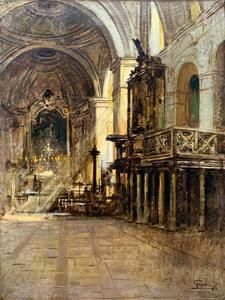 Felice GIORDANO - Pintura - Interno di chiesa