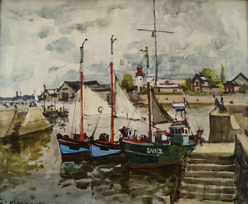Jean-Marie Luc BLANPAIN - Gemälde - Port de Honfleur
