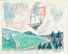 Reine BUD-PRINTEMS - Dessin-Aquarelle - Boîte à monter soi-même au ciel