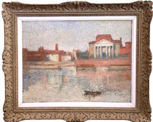 Henri MARTIN - Painting - Vue des quais de Toulouse