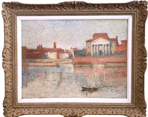 Henri MARTIN - Pintura - Vue des quais de Toulouse
