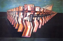 Ibrahim KODRA - Pintura - Lotta per la pace