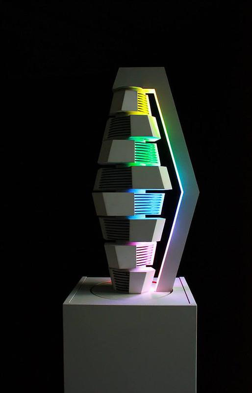 Fabrice AINAUT - Sculpture-Volume - Transformation d'un losange 02