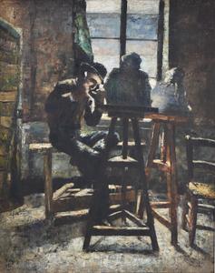 Lesser URY - Painting - The Sculptor's Studio | Das Bildhauer Atelier