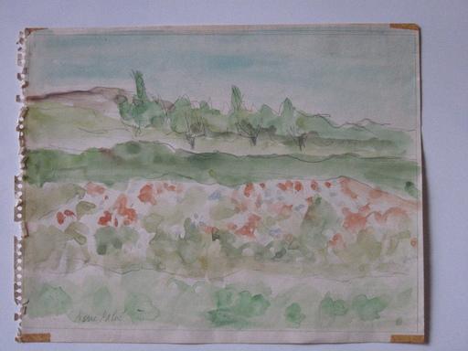 Pierre PALUÉ - Dessin-Aquarelle - paysage