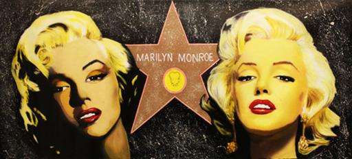 Steve KAUFMAN - 绘画 - Double Marilyn - The Hollywood Star