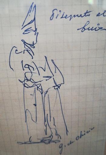Giorgio DE CHIRICO - Disegno Acquarello - Senza titolo