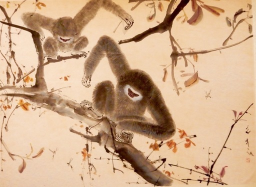 CHEN Wenxi - Peinture - Bee with Monkeys