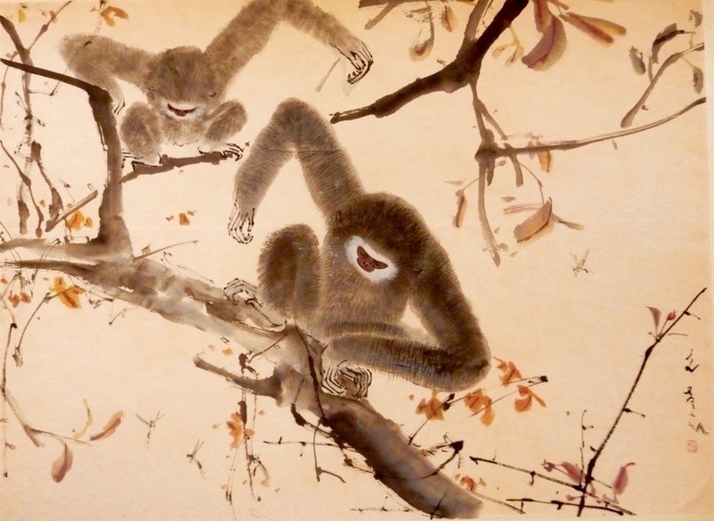 CHEN Wenxi - Painting - Bee with Monkeys