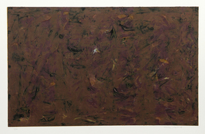 Milton RESNICK - 版画 - Untitled - Brown Abstract