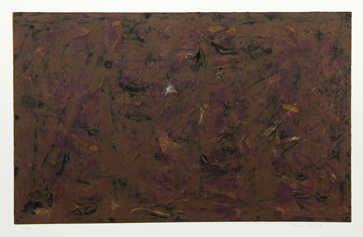 Milton RESNICK - Estampe-Multiple - Untitled - Brown Abstract