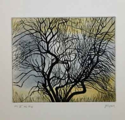 Henry MOORE - Estampe-Multiple - Trees V Spreading Branches