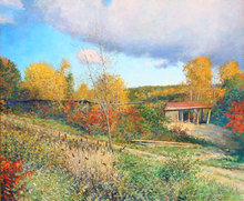 Wally AMES - Pintura - The Old Sawmill at Westminster, Vermont