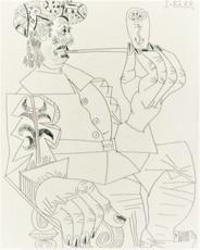 巴勃罗•毕加索 - 版画 - Vieux Corsaire a la Retraite Fumant sa Pipe