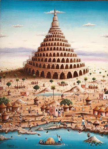 Roger DJIGUEMDÉ - Painting - La Tour de Babel