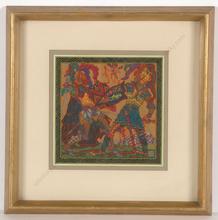 """Alfred WAAGNER - Disegno Acquarello - """"Knight fight"""", watercolor, 1910s"""