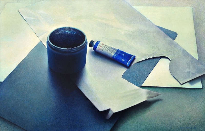 Anne HAUSNER - Pintura - Blau, Blau, Grau