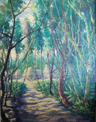 César Calvo DE ARAUJO - Painting - Caserio