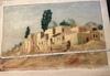 Michel KURCHÉ - Peinture - Damascus Suburbs 1949