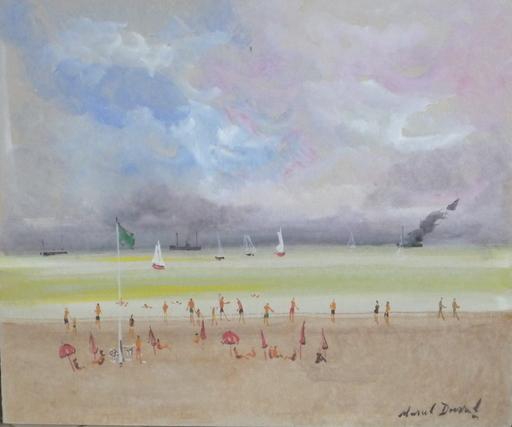 Marcel DUVAL - Pintura - la plage