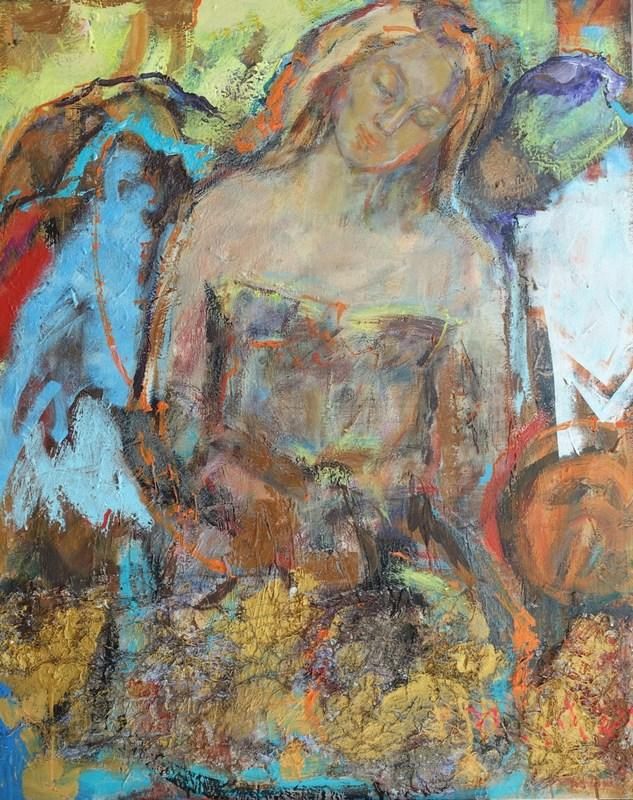 Ludmilla MOSHEK - Painting - Lakshmi