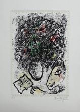 马克•夏加尔 - 版画 - Flowers of art