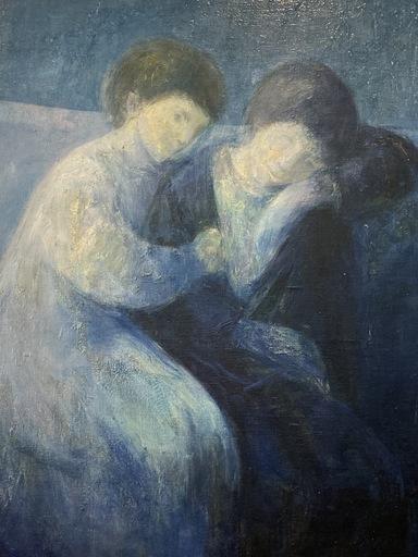 Jaime QUESADA - Painting - HUILE SUR PANNEAU SIGNEE QUESADA