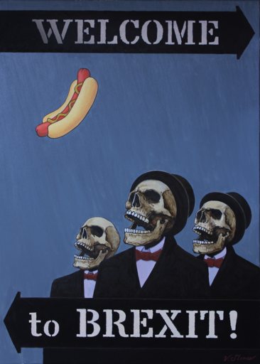 Vasily SLONOV - Painting - HotDog. From the Series « WELCOME to BREXIT»