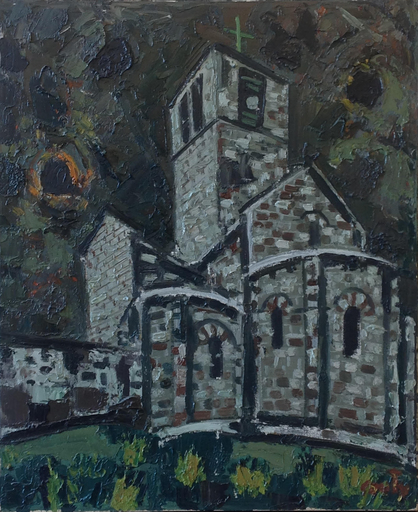 Jean COUTY - Pittura - Eglise