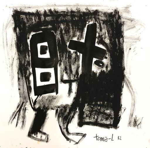 Thomas LABARTHE - Painting - Simple-black
