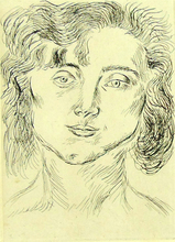 Henri MATISSE - Estampe-Multiple - Mlle M.M, Frontispiece, from: Fifty Drawings