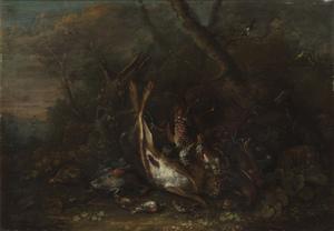 George William SARTORIUS - Pittura - Natura morta con lepre