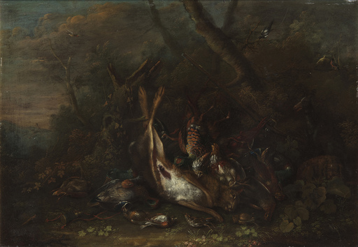 George William SARTORIUS - Peinture - Natura morta con lepre