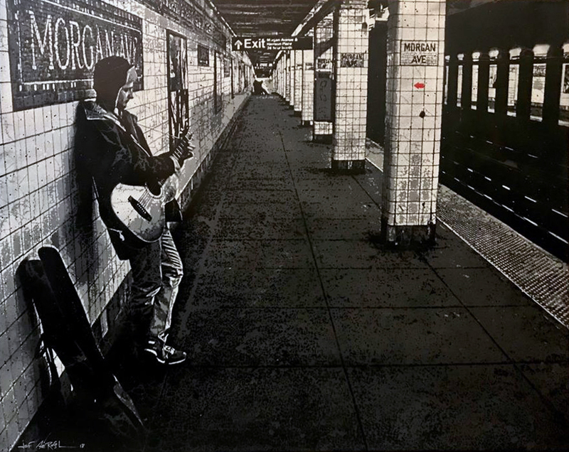 JEF AÉROSOL - Pittura - Morgan avenue Subway station